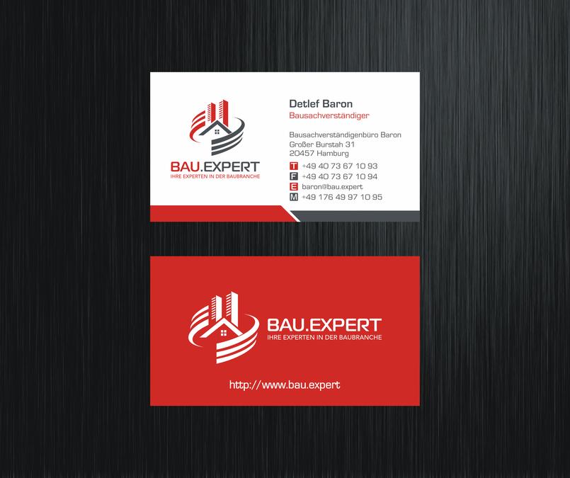 Logo Und Visitenkarte Für Bauexperten Logo Business Card