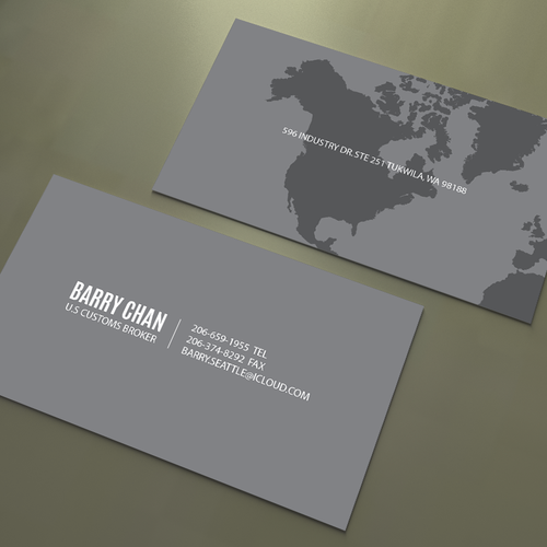 Create an eye-catching and suggestive business card for a