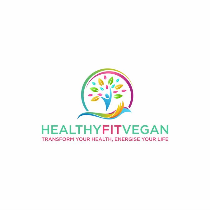 cool modern logo for vegan fitness logo design contest