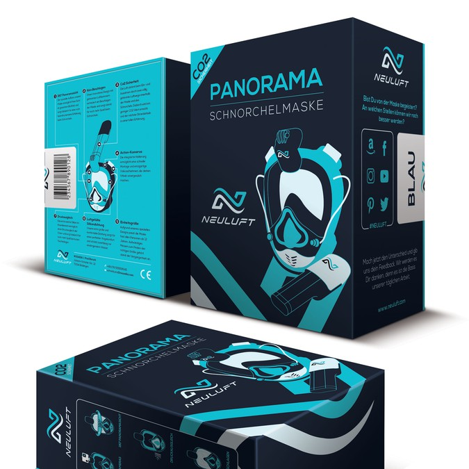 Snorkel Mask Gift Box Packaging | Product packaging contest