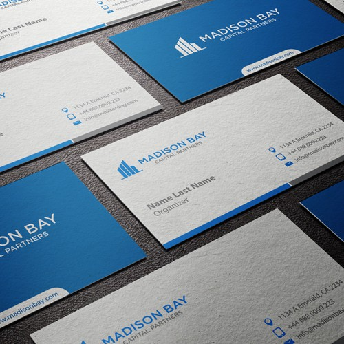 Corporate Logo Business Card For Innovative New Private Equity