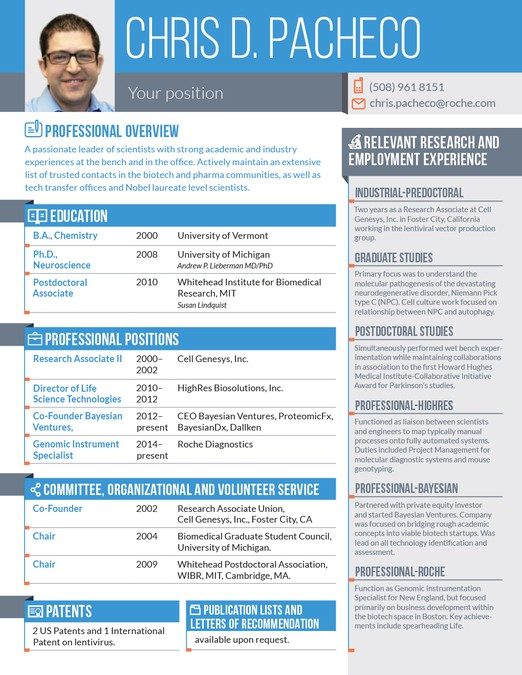 help a scientist turn his cv into an eye grabbing resume