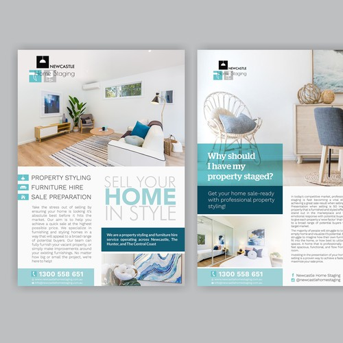 Design Double Sided Flyer For Newcastle Home Staging Business
