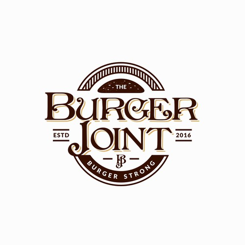 Classic, Clean and Simple Logo Design for a Burger Place.. Design by Rozak ifandi