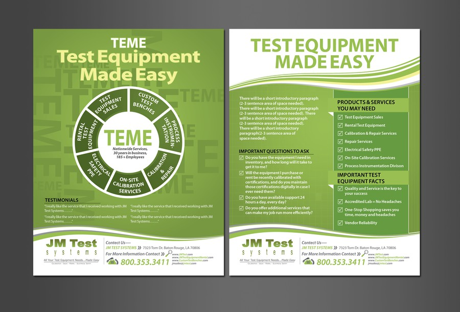 help jm test systems with a new postcard or flyer postcard flyer