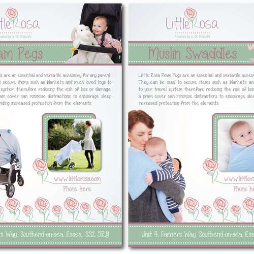 New Leaflet for Baby product - 1 of 3 Contests Available! | Postcard