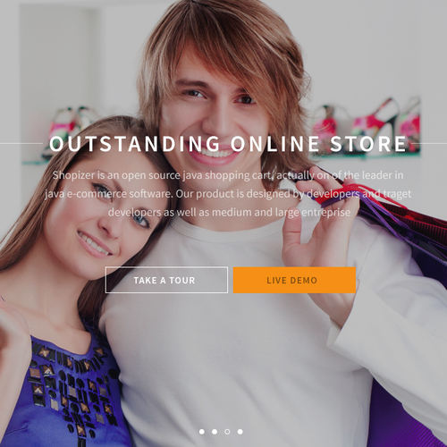 Website Banner For Shopizer Com Open Source E Commerce Software Banner Ad Contest 99designs