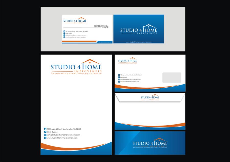 Home improvement company logo and business card design logo home improvement company logo and business card de winning design by ahmad nawawi reheart Image collections