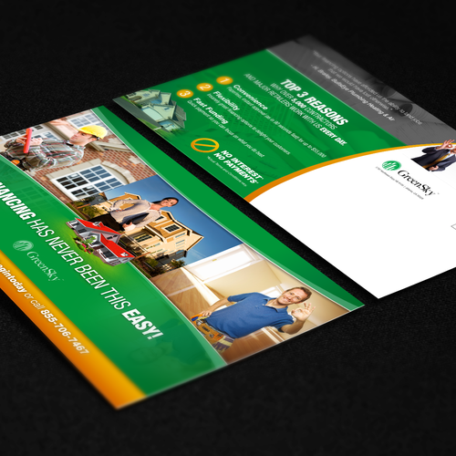 Create An Impactful Direct Mail Postcard For GreenSky