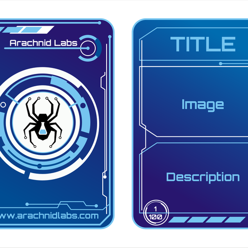 Help Arachnid Labs with a clever promotional trading card design | Karte oder Einladung Wettbewerb