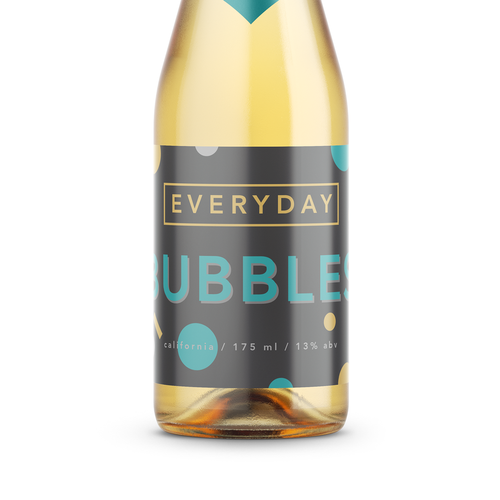 Create a fun pop culture champagne label for Everyday Bubbles Design by SilverlakeCreative