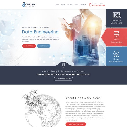 Runner-up design by Webenix Solutions