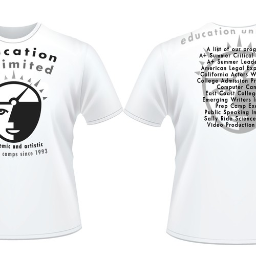 Education unlimited summer camp tshirt design t shirt for T shirt design for education