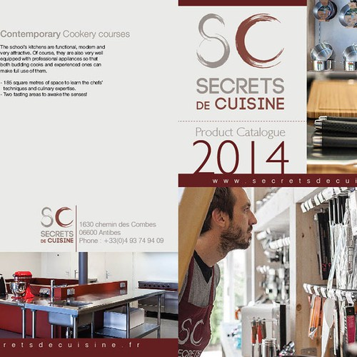 Create A Nice And Clean Catalogue For Secrets De Cuisine Step 1
