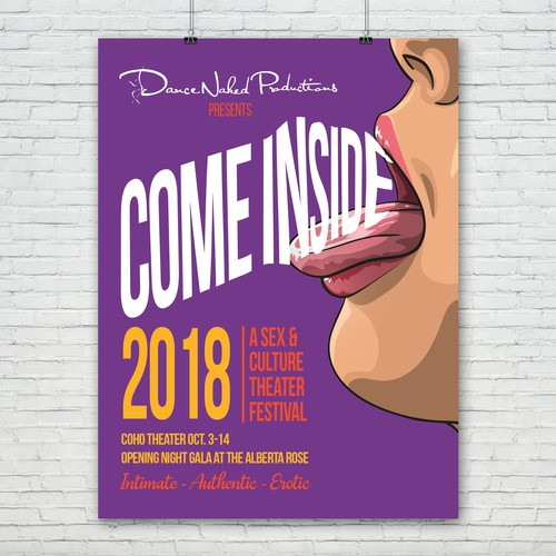 Come Inside: A Sex & Culture Theater Festival Poster Design Design by GemmyVN