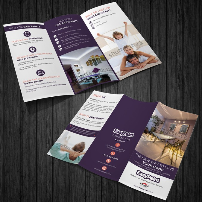 awesome brochure design for online house painting company brochure
