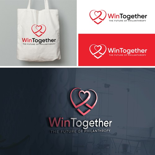 Wintogether Charitable Sweepstakes Logo Brand Identity Pack Contest 99designs