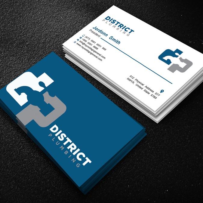 Modern plumbing business card business card contest modern plumbing business card colourmoves