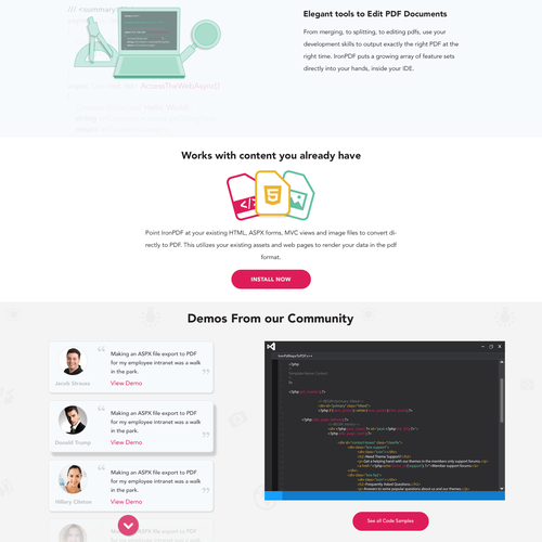 Iron Software  Can you design a vibrant bootstrap website