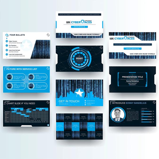 Gewinner-Design von Powerpoint Studio