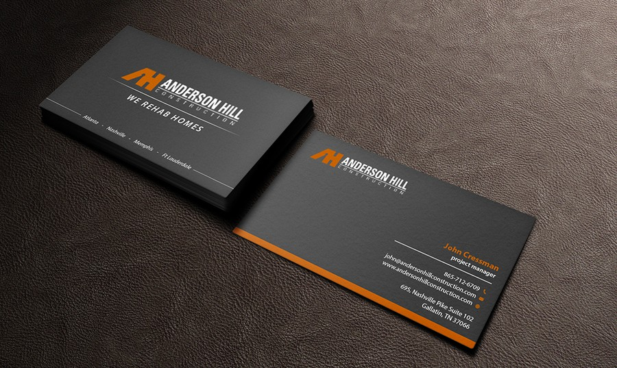 Create a great business card for a forward thinking contractor ...