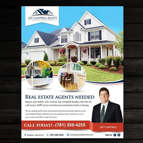 real estate ad flyer はがき チラシ 各種印刷物コンペ