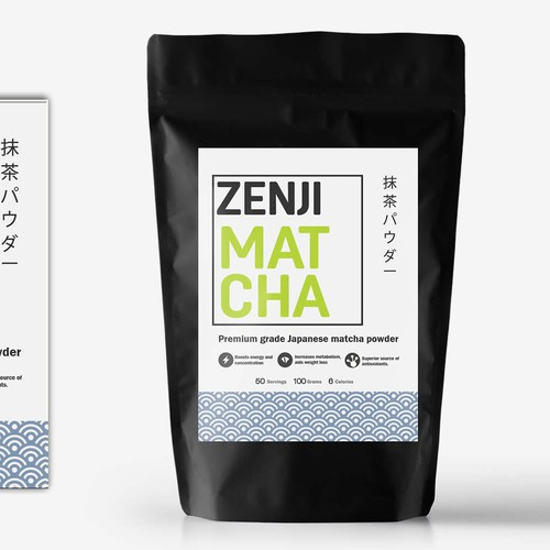 Japanese Matcha Product Needs Label - *GUARANTEED & BLIND* Design by cynemes