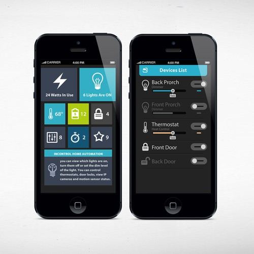 Home Automated Lighting: Design Home Automation App To Control Lights
