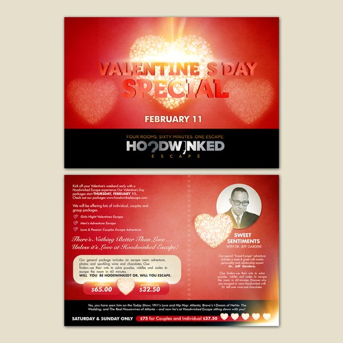 Create a captivating Valentine's Day Flyer for Hoodwinked Escape Design by Silvia Jordanova