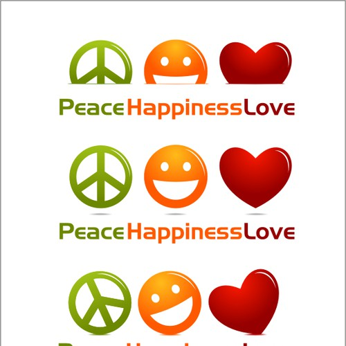 Logo for Peace Happiness Love | Logo design contest