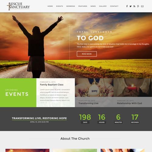 Runner-up design by Webmantratech