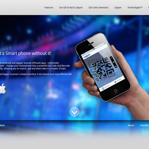 Create the next website design for Zapper | Web page design
