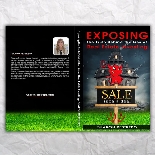Real Estate Book Cover Design : Exposing myths in real estate investing book cover design