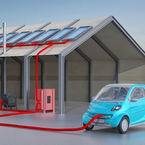 Solar Amp Electric Car Sketch Illustration Or Graphics Contest
