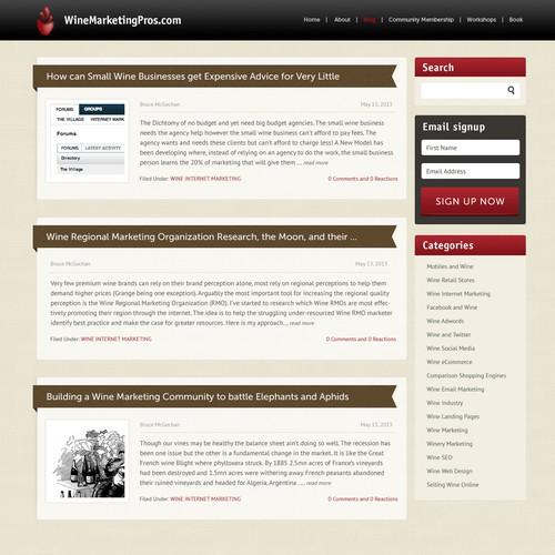 WineMarketingPros com needs a new website design | Web page