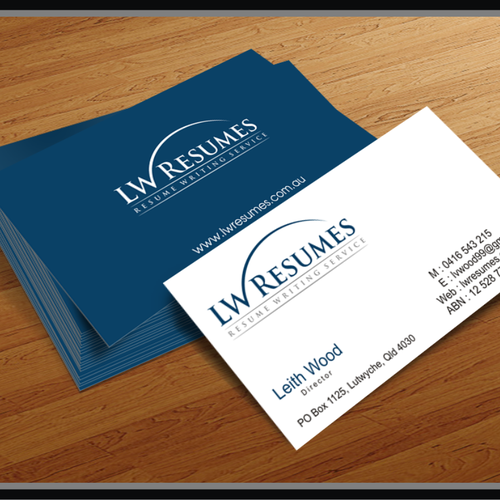 Create A Logo For A Resume Writing Service Logo Business Card