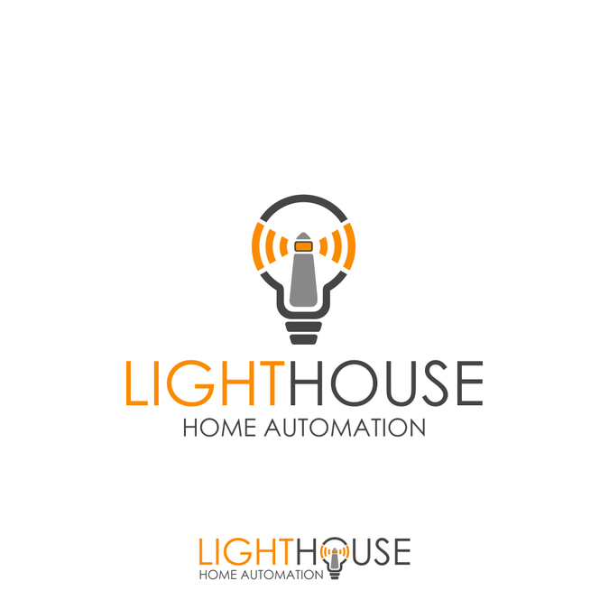 modern  warm  friendly logo for home automation contractor