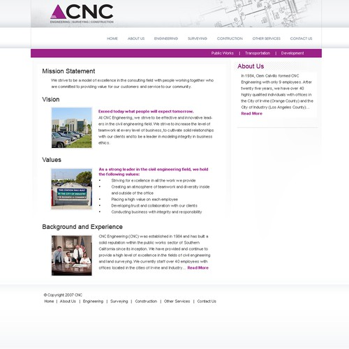 Civil Engineering Site Design Uncoded 300 Web Page Design Contest 99designs