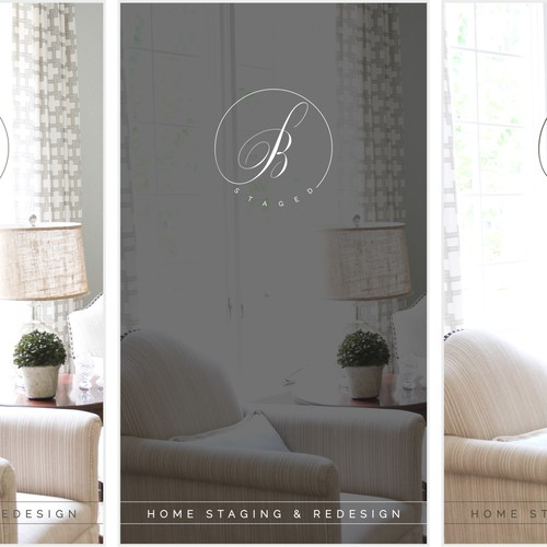 Create A Logo And Business Card For B Staged A Home Staging And