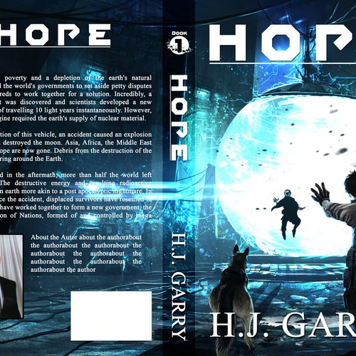 Book Cover Art Contest : Create a book cover for quot hope science fiction fantasy