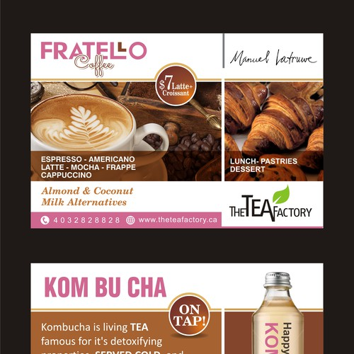 4x6 Postcard for Modern Teashop and Cafe Design by Justdesign.
