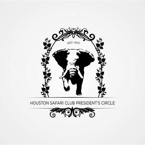 Houston Safari Club President's Circle   Logo design contest