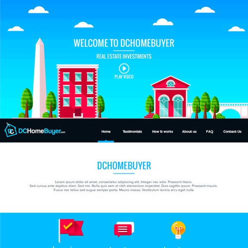 Clean and trendy home buying website landing page design for Best house buying websites