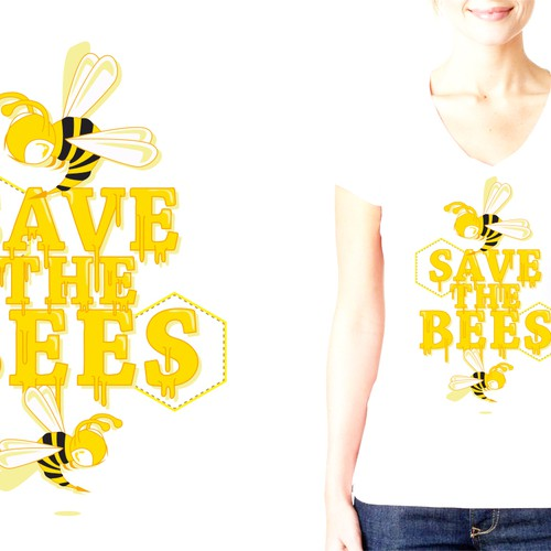 """Create a """"Save the Bees"""" Illustration Design by gabs&gabs"""