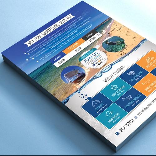 Design an eye catching flyer for snorkel tours on the Ningaloo Reef! Ontwerp door websmartusa