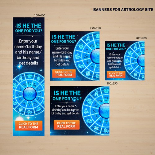 Banners For Astrology Site Banner Ad Contest 99designs