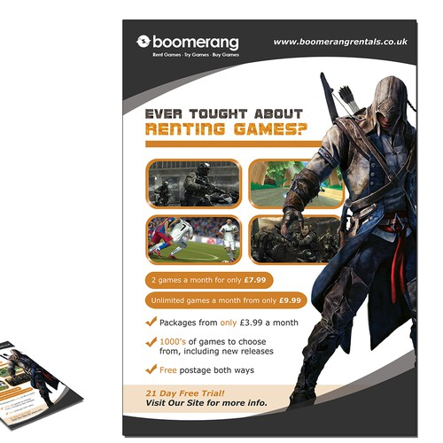 Boomerang needs a new postcard or flyer | Postcard, flyer or