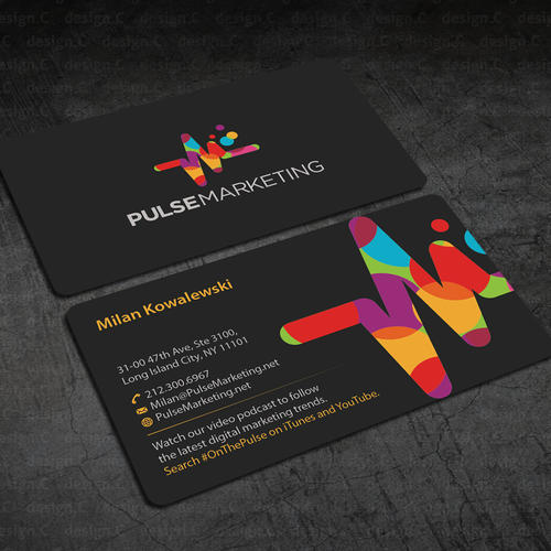 Create eye catching professional business card for digital runner up design by designc colourmoves