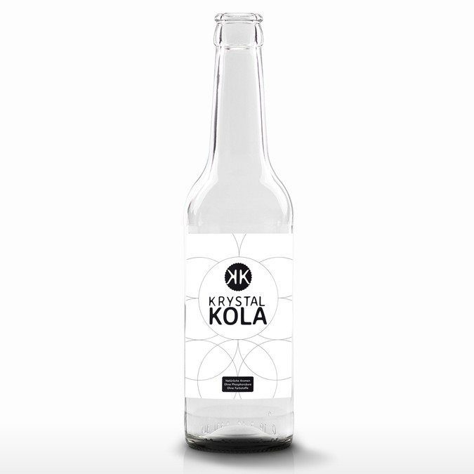 Label for a clear coke bottle   Product label contest