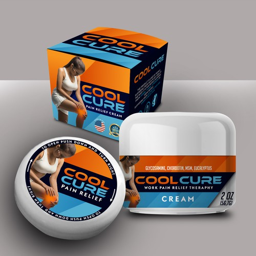 COOLEST PACKAGING ARTWORK FOR COOLCURE PAIN RELIEF CREAM